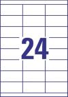 70 x 33,8 mm méretű nyomtatható öntapadós etikett A4-es lapon.