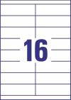 105 x 33,8 mm méretű öntapadó címke A4-es lapon.
