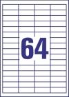 48,5 x 16,9 mm méretű nyomtatható öntapadós etikett A4-es lapon.