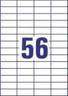 52,5 x 21,2 mm méretű öntapadó címke A4-es lapon.