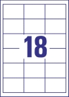 64 x 45 mm méretű nyomtatható öntapadós etikett A4-es lapon.