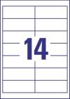 97 x 37 mm méretű nyomtatható öntapadós etikett A4-es lapon.