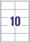 97 x 55 mm méretű öntapadós etikett címke A4-es lapon.