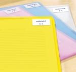 50 x 19 mm méretű kézzel írható öntapadós etikett címke.