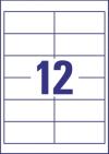 97 x 42,3 mm méretű öntapadó címke A4-es lapon.