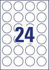 40 mm átmérőjű nyomtatható öntapadós kör alakú etikett címke A4-es lapon.