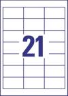 64 x 36 mm méretű öntapadó címke A4-es lapon.