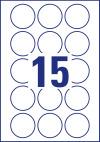 51 mm átmérőjű nyomtatható öntapadós kör alakú etikett címke A4-es lapon.