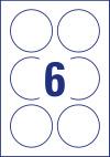 80 mm átmérőjű nyomtatható öntapadós kör alakú etikett címke A4-es lapon.