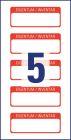 50 x 20 mm méretű kézzel írható önlamináló öntapadós leltár címke