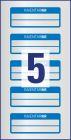 50 x 20 mm méretű kézzel írható időjárásálló öntapadós leltár címke