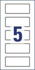 50 x 20 mm méretű kézzel írható időjárásálló biztonsági öntapadós leltár címke