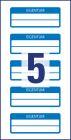 50 x 20 mm méretű kézzel írható időjárásálló biztonsági öntapadós nyilvántartó címke