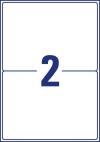 199,6 x 143,5 mm méretű nyomtatható öntapadós csomag címke A4-es lapon.