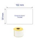 59 x 102 mm méretű nyomtatható öntapadós etikett címke.