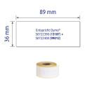 36 x 89 mm méretű nyomtatható öntapadós címzés címke.