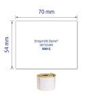 54 x 70 mm méretű nyomtatható öntapadós címzés címke.