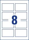 85 x 54 mm méretű nyomtatható névjegykártya A4-es lapon.