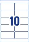 96 x 50,8 mm méretű nyomtatható öntapadós etikett A4-es lapon.