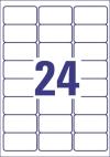 63,5 x 33,9 mm méretű nyomtatható öntapadós etikett A4-es lapon.