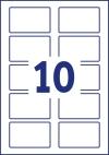 80 x 50 mm méretű nyomtatható öntapadós névcímke A4-es lapon.