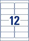 99,1 x 42,3 mm méretű öntapadó címke A4-es lapon.