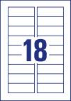 78 x 28 mm méretű nyomtatható mágneses címke A4-es lapon.