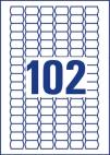 26 x 16 mm méretű öntapadó címke A4-es lapon.