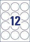 60 mm átmérőjű nyomtatható öntapadós kör alakú etikett címke A4-es lapon.