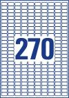 17,8 x 10 mm méretű nyomtatható öntapadós etikett A4-es lapon.