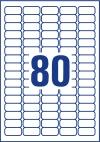 35,6 x 16,9 mm méretű nyomtatható öntapadós etikett A4-es lapon.