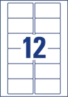 78,7 x 46,6 mm méretű öntapadó címke A4-es lapon.