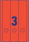 61 x 297 mm méretű nyomtatható öntapadós iratrendező címke A4-es lapon.