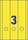 61 x 297 mm méretű öntapadó iratrendező címke A4-es lapon.