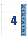 61 x 192 mm méretű öntapadó iratrendező címke A4-es lapon.