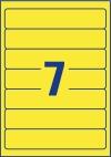 192 x 38 mm méretű nyomtatható öntapadós iratrendező címke A4-es lapon.