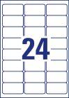 63,5 x 33,9 mm méretű öntapadó címke A4-es lapon.