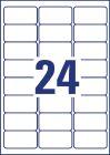 63,5 x 33,9 mm méretű nyomtatható öntapadós időjárásálló etikett A4-es lapon.