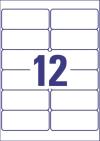99,1 x 42,3 mm méretű öntapadós etikett címke A4-es lapon.