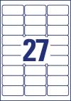 63,5 x 29,6 mm méretű nyomtatható öntapadós névcímke A4-es lapon.