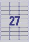 63,5 x 29,6 mm méretű öntapadós etikett címke A4-es lapon.