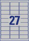 63,5 x 29,6 mm méretű nyomtatható öntapadós ezüst ipari etikett A4-es lapon.