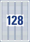 43,2 x 8,5 mm méretű öntapadó címke A4-es lapon.