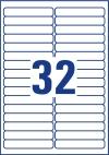 96 x 16,9 mm méretű nyomtatható öntapadós etikett A4-es lapon.