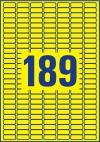 25,4 x 10 mm méretű nyomtatható öntapadós etikett A4-es lapon.