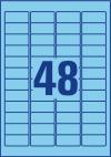 45,7 x 21,2 mm méretű öntapadó címke A4-es lapon.