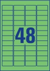 45,7 x 21,2 mm méretű nyomtatható öntapadós etikett A4-es lapon.