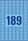 25,4 x 10 mm méretű öntapadó címke A4-es lapon.