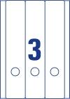 59 x 297 mm méretű öntapadó iratrendező címke A4-es lapon.