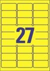 63,5 x 29,6 mm méretű nyomtatható öntapadós etikett A4-es lapon.